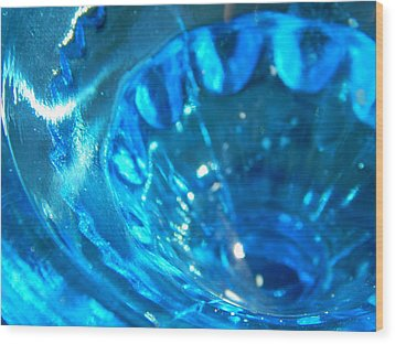 The Beauty Of Blue Glass Wood Print