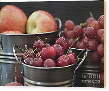 Wood Print featuring the photograph The Beauty Of Fresh Fruit by Sherry Hallemeier