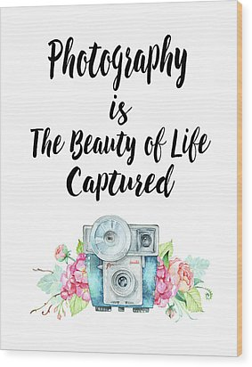 Wood Print featuring the digital art The Beauty Of Life by Colleen Taylor