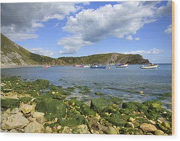 Wood Print featuring the photograph The Beauty Of Lulworth Cove by Ian Middleton