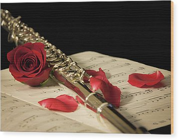 The Beauty Of Music Wood Print
