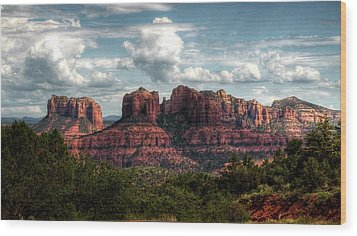 Wood Print featuring the photograph The Beauty Of The Red Rocks  by Saija Lehtonen