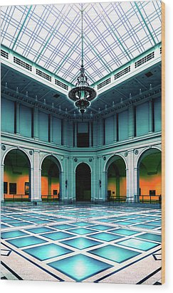 Wood Print featuring the photograph The Beaux-arts Court by Chris Lord