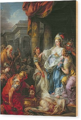 The Beheading Of Cyrus IIi Wood Print by Jean Simon Berthelemy