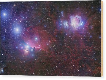 The Belt Stars Of Orion Wood Print by Robert Gendler
