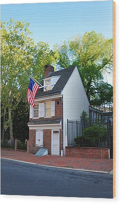 The Betsy Ross House Philadelphia Wood Print by Bill Cannon