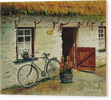 The Bicycle Wood Print by Karen Fleschler
