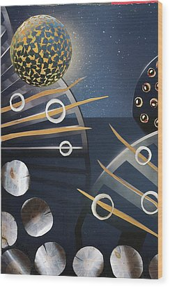 Wood Print featuring the painting The Big Bang by Michal Mitak Mahgerefteh