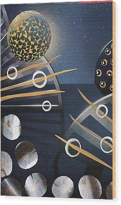 The Big Bang Wood Print by Michal Mitak Mahgerefteh