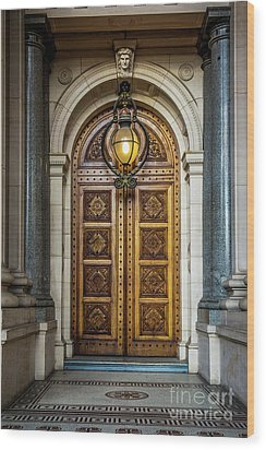 Wood Print featuring the photograph The Big Doors by Perry Webster