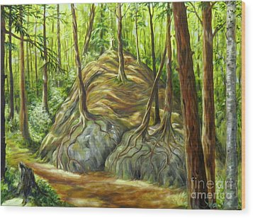 the Big Rock Wood Print