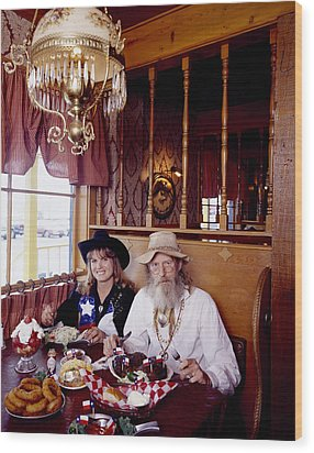The Big Texan Restaurant, Amarillo, Texas Wood Print by Carol M Highsmith