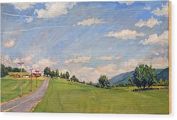 The Big View Berkshires Wood Print by Thor Wickstrom