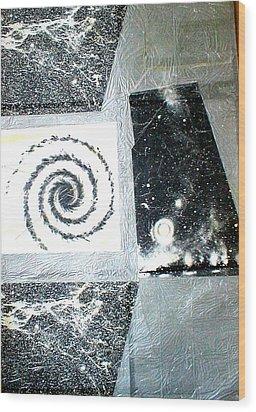 The Birth Of A Star Wood Print by Marja Koskinen-Talavera