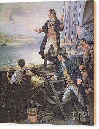 The Birth Of The Us National Anthem Wood Print by American School