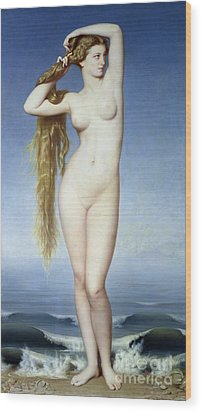 The Birth Of Venus Wood Print by Eugene Emmanuel Amaury Duval