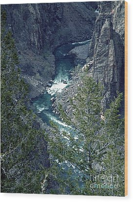 Wood Print featuring the painting The Black Canyon Of The Gunnison by RC DeWinter