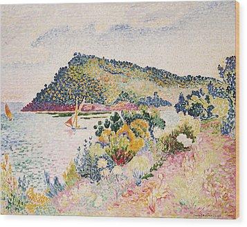 The Black Cape Pramousquier Bay Wood Print by Henri-Edmond Cross