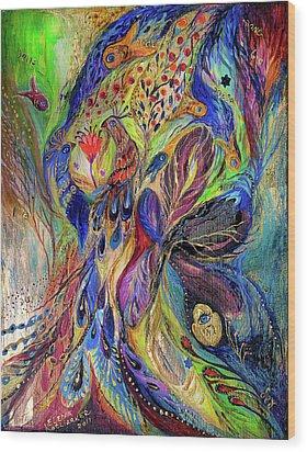 The Black Iris Wood Print by Elena Kotliarker