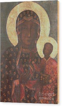 The Black Madonna Of Jasna Gora Wood Print by Russian School