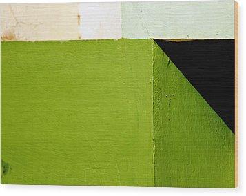 The Black Triangle Wood Print