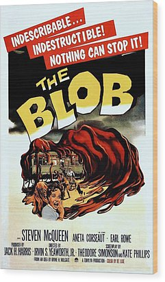 The Blob  Wood Print by Movie Poster Prints