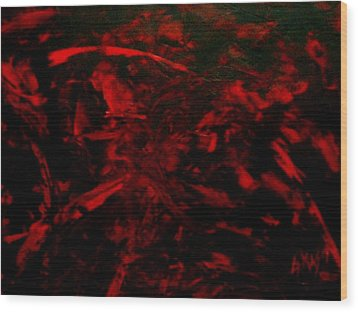 The Blood Wood Print by Guillermo Mason
