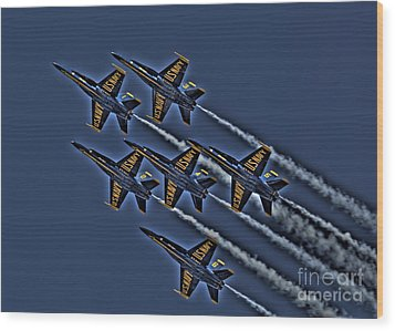 The Blue Angels Wood Print by Corky Willis Atlanta Photography