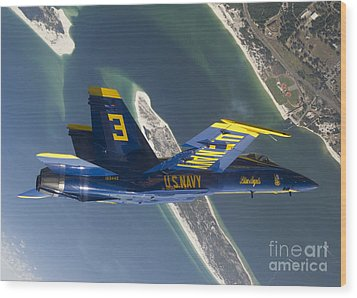 The Blue Angels Perform A Looping Wood Print by Stocktrek Images
