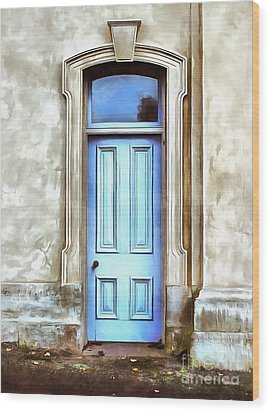 Wood Print featuring the painting The Blue Door by Edward Fielding