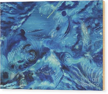 The Blue Hole Wood Print by Regina Wirsich Roberts
