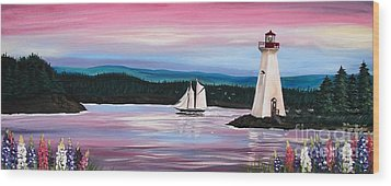 The Blue Nose II At Baddeck Nova Scotia Wood Print by Patricia L Davidson