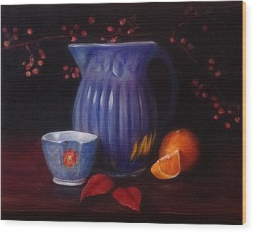 The Blue Pitcher Wood Print