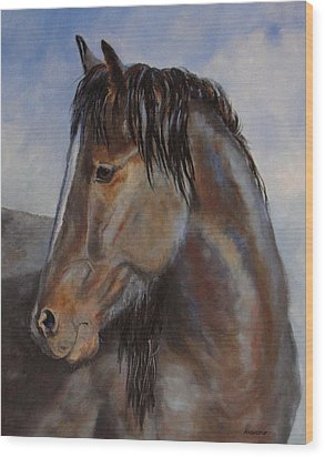 The Blue Roan Wood Print by Debra Mickelson