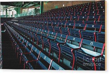 The Blue Seats Wood Print