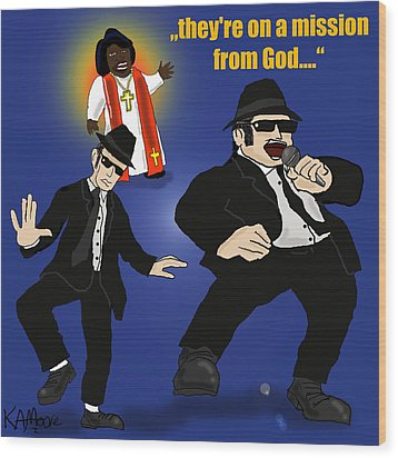 The Blues Brothers Wood Print