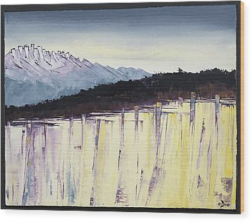 The Bluff And The Mountains Wood Print by Carolyn Doe