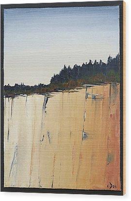 The Bluff Wood Print by Carolyn Doe
