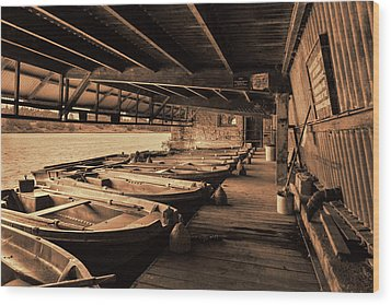 Wood Print featuring the photograph The Boat House  by Scott Carruthers