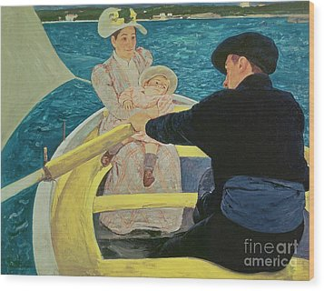 The Boating Party Wood Print by Mary Stevenson Cassatt