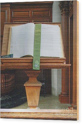 The Book Of James Wood Print by David Bearden