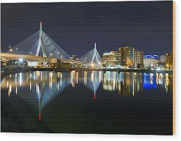 The Boston Bridge Wood Print by Shane Psaltis