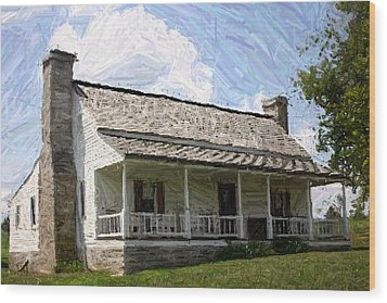 The Bottom House  - Perryville Ky Wood Print by Thia Stover
