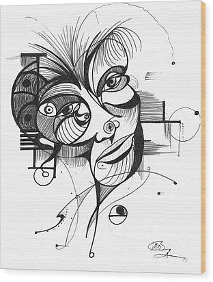 The Boxer Wood Print by Nicholas Burningham