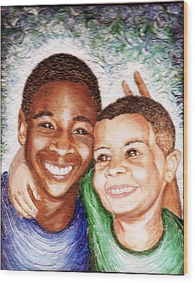 The Boys  Wood Print by Keenya  Woods
