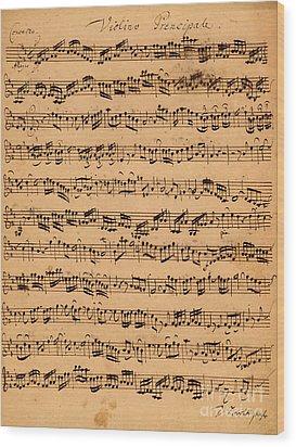 The Brandenburger Concertos Wood Print by Johann Sebastian Bach