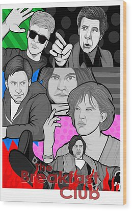 the Breakfast Club 30th anniversary Wood Print by Gary Niles