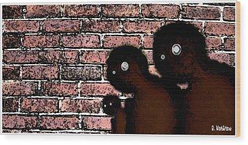 The Bricks Wood Print by Richard N Watkins