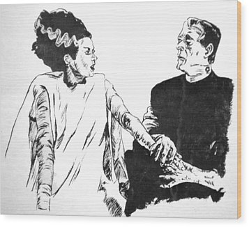 The Bride Of Frankenstein Wood Print by Bryan Bustard