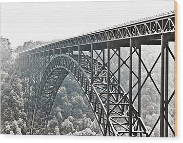 The Bridge B/w Wood Print
